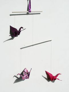 crane mobile decoration by julianna grove