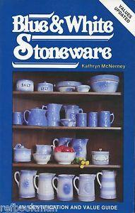 Antique Blue White Stoneware Crocks Pitchers Bowls etc Book Values