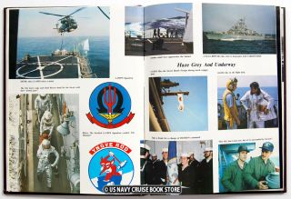 USS Caron DD 970 1980 1981 Mediterranean Cruise Book