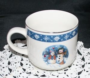 Crofton China Dinnerware Snowman Coffee Cup Mug s Christmas Tableware