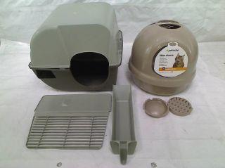 New Aspen Pet 50021 Booda Dome Clean Step Cat Litter Box Titanium