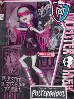 New Mattel Monster High Power Ghouls Polterghoul Spectra Doll Target Exclusive