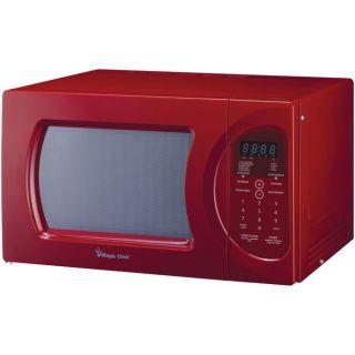 New Red Magic Chef MCD992R 900 Watt Countertop Microwave Oven w ...