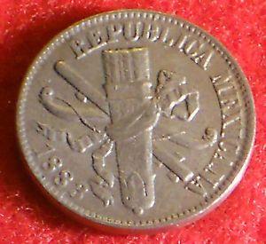 Mexico 1883 1 Centavo Cent Mexican Coin