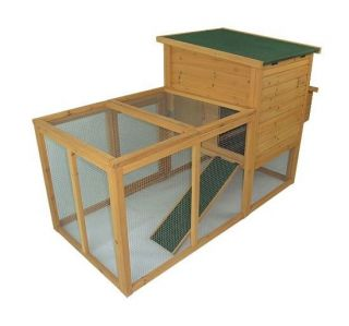 Pawhut Outdoor Wooden Hen House Poultry Egg Box Enclosure Chicken Coop w/ Run