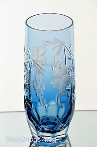 Nachtmann Traube Aqua Lt Blue Cut to Clear Crystal Longdrink Collins Water Glass