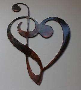 Metal Music Note Wall Decor