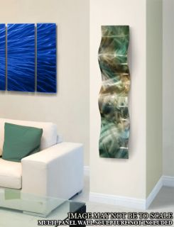 """Modern Abstract Metal Wall Art Decor Painting""""Rainforest Wave"""" by Jon Allen"""
