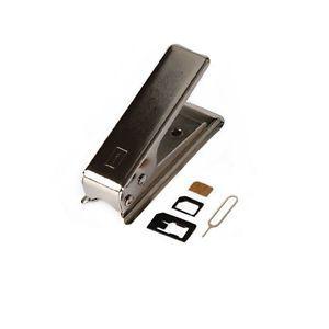 Universal Cutting Edge Micro Nano Sim Card Cutter for iPhone 4 4S 3 Adapters