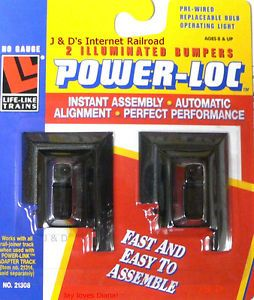 HO Scale Model Railroad Trains Layout Life Like Power Loc Track Light Up Bumpers