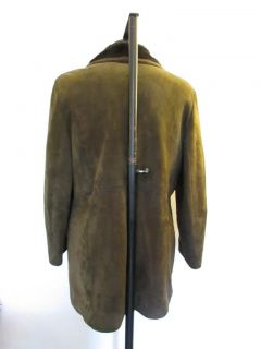 Mens Leather Coat Jacket XL
