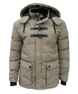 Soul Star Turp Men's Padded Casual Winter Fashion Coat Jacket Parka Beige 1992