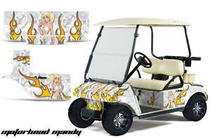 Club Car Golf Cart Parts Graphic Kit Wrap AMR Racing Decals Accessories Mandy WW