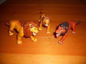 Lion King Adult Simba Mufasa Scar Fighting Action Figure Lot