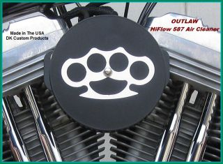 Hiflow 587 Air Cleaner K N Filter DK Custom Mirror Harley Sportster 1991 Up
