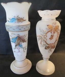 Victorian Vase Hand Painted