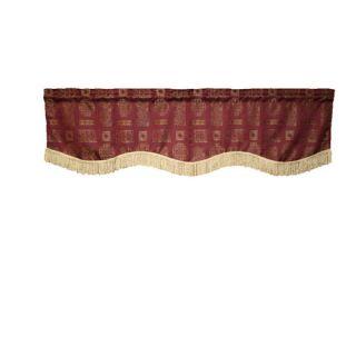 Violet Linen Premium Damask Vintage Design Window Valance