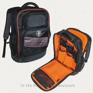 1fba22177f ... Klein Tools 55456BPL Tradesman Pro Organizer Tech Backpack 25 Pockets  Laptop ...