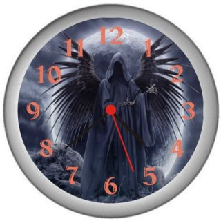 New Gothic Angel Home Room Wall Decor Clock Gift