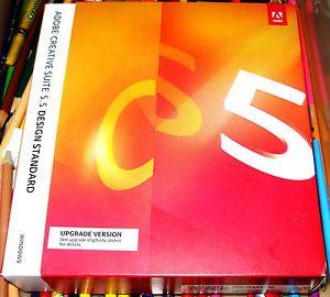 Adobe Creative Suite 5 5 Design Standard Photoshop InDesign Illustrator ACR CS5