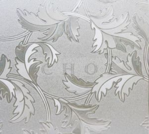 531 Decorative 3D Laser Translucent Embossed Static Cling Window Film Treatment