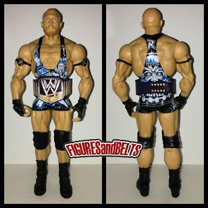 WWE Mattel Elite 21 Ryback WWE Custom Belt Wrestling Action Figure Lot Mint