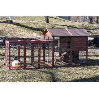 Wood Chicken Coop House Pen Run Hen Bantam Fowl Outdoor Farm Chick N Lodge New