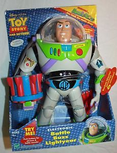 "Toy Story 11"" Electronic Battle Buzz Buzz Lightyear Talking Action Figure"