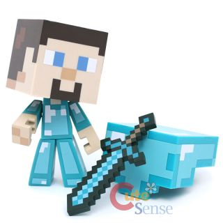 Minecraft Steve Diamond Edition Vinyl Action Figure Jinx