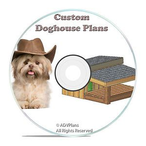 Insulated Dog House Plans 15 Total Large Dog Easy to Build Plans on CD