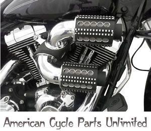 D M Custom Cycle Boss Machine Gun Dual Air Cleaner Intake Chrome 93 12 Harley