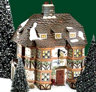 Sir John Falstaff Inn UTube New Department Dept 56 Dickens Village D56 DV