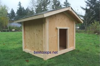 Large Gable Roof Dog House Plan