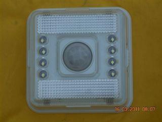 Zion 8 LED Wireless Motion Sensor Auto on Off Lamp Light 2 AA Alkaline Battery
