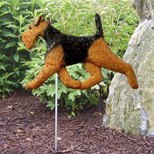 Welsh Terrier Dog Figure Garden Stake Home Yard Garden Products Dog Gifts