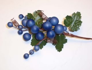 Artificial Grape Cluster Foam Purple Fruit Vine L K