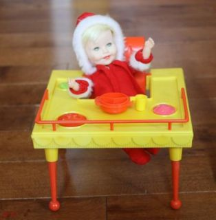 1964 Suzy Cute Doll Crib Swing Set High Chair Bath Tub Stroller Clothes Toys