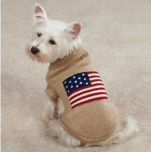 Zack Zoey Americana Flag Sweater Pet Dog Knit Sweater XXS XL Sweaters Top
