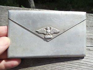 Original German WWII Cigarette Case Aluminum Spring Loaded RARE