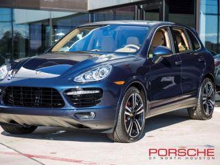 New 2014 Porsche Cayenne Turbo s Bose PDK Nav Panorama PDLS LCA Dark Blue Met