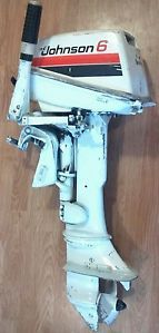 Johnson 6R79E 6 HP Outboard Engine Gas Boat Trolling Motor 6hp OMC Evinrude 2 St