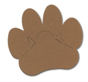 15 Die Cut Large Paw Print Dog Cat Lion Assorted Colours Animal Card Making