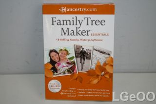New Family Tree Maker Essentials 2012