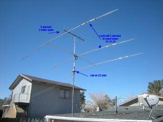 HF VHF Beam Antennas for Sale w Rotor Mast