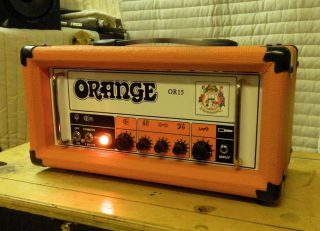 Orange Amplifiers or Series OR15H 15W Compact Tube Guitar Amp Head OR15