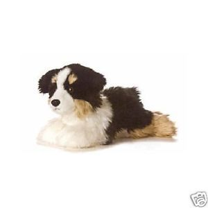 "Australian Shepherd Dog 12"" Plush Stuffed Animal Toy"