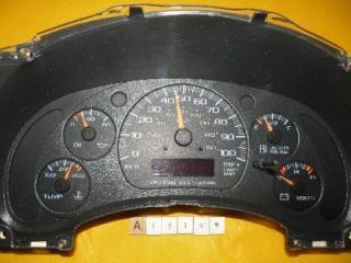 01 02 Chevy GMC Van Speedometer Instrument Cluster Dash Panel 201 564