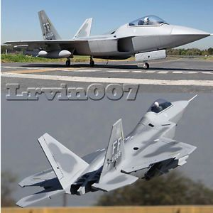 ★ F 22 3D Vector Thrust Aerobatic RC Electric Twin 70mm EDF Fighter Jet Airplane