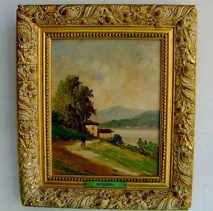 Landscape Oil Painting on Art Board by Artist Dossena