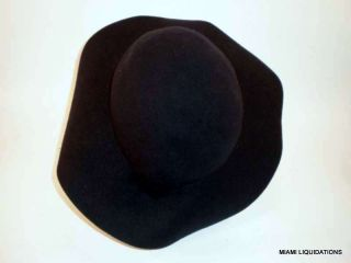 Amish Padre Priest Cowboy Hat 100 Wool Navy Blue Halloween Costume